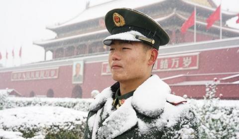 중국 수도 베이징에 이례적인 많은 눈