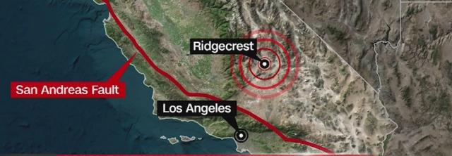 캘리포니아 샌프란시스코 베이 지역, 중부 캘리포니아 샌안드레아스 단층 4.5-4.7지진
